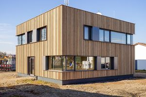 New commercial building with NUR-HOLZ elements